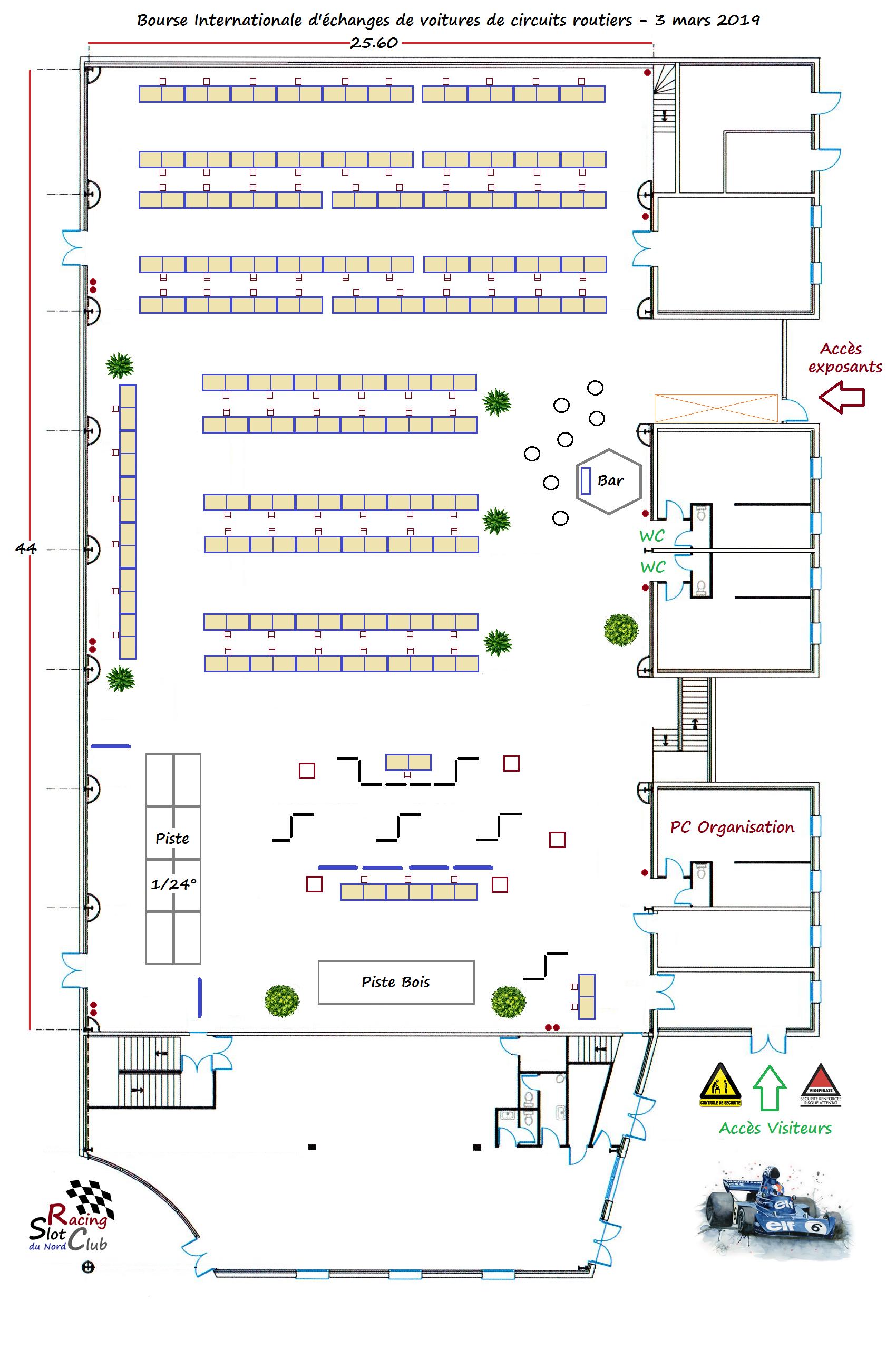 salle schumann plan avec tables DE 80